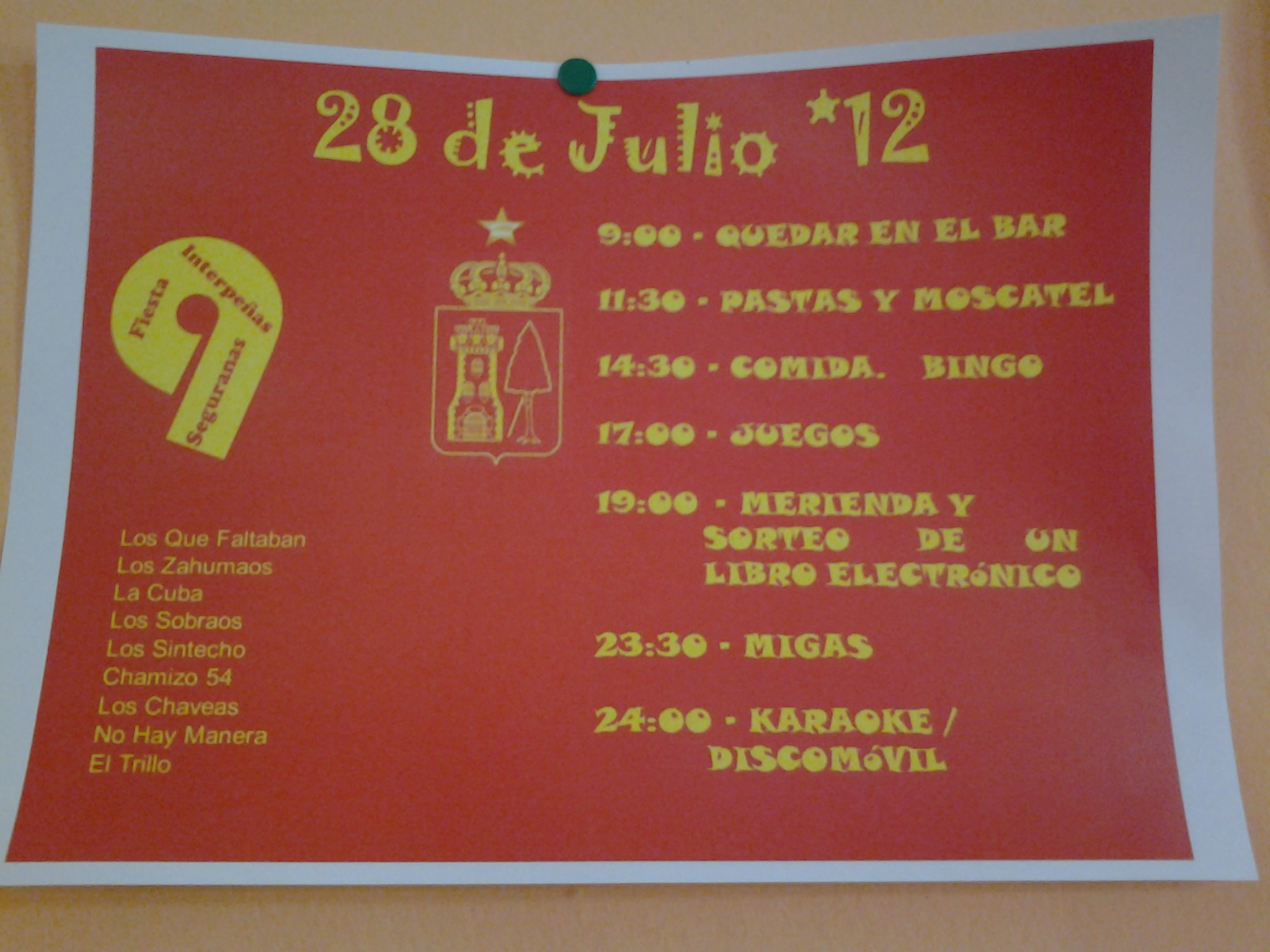 Cartel 9ª Fiesta Interpeñas
